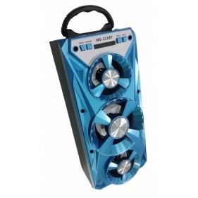 Obrázok pre Bluetooth Prenosný Reproduktor MS-221BT - mobile multimedia  wireless speaker - modrý 5f08bdc5f1f